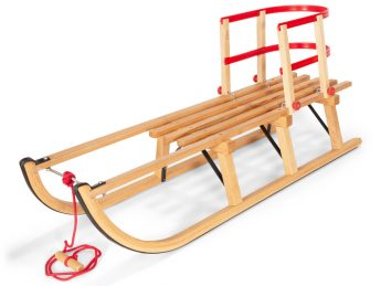 Wooden Sledges with Back support