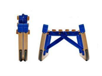 Folding wooden sledges